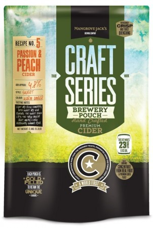 Craft Series Peach & Passionfruit Cider ekstraktsett - 2,4kg