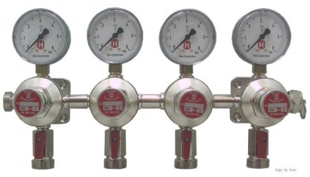 4-veis CO2 sekundær regulator 3 bar - Hiwi