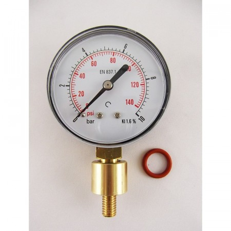 Aphrometer - manometer for flaske 0-10 bar - BacBrewing