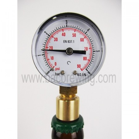 Aphrometer - manometer for flaske 0-6 bar - BacBrewing