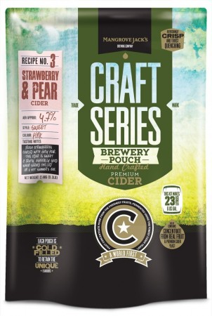Craft Series Strawberry & Pear Cider ekstraktsett - 2,4kg