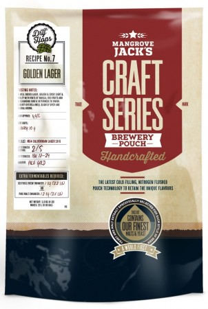 Craft Series Golden Lager with dry hops ekstraktsett - 1,8kg